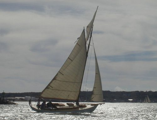 40' gaff sloop Liberty, (1986)