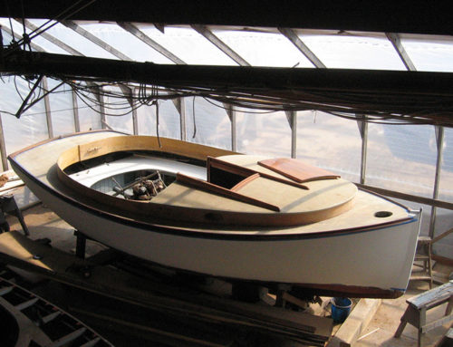 20′ catboat, gaff sloop Meta B (now Seasons), 1981